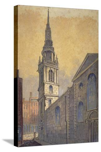 Church of St Mary Le Bow from Bow Churchyard, City of London, C1815-William Pearson-Stretched Canvas Print