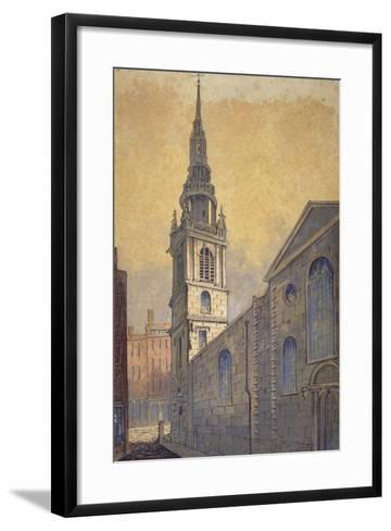 Church of St Mary Le Bow from Bow Churchyard, City of London, C1815-William Pearson-Framed Art Print