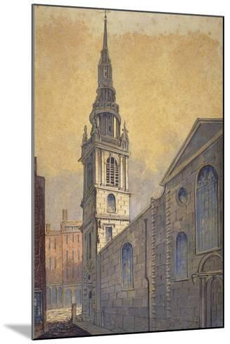 Church of St Mary Le Bow from Bow Churchyard, City of London, C1815-William Pearson-Mounted Giclee Print