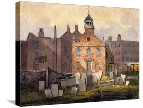 St Marylebone Old Church, London, C1815-William Pearson-Stretched Canvas Print