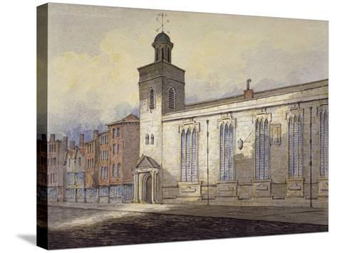 View of St Katherine Cree's Sundial, City of London, C1815-William Pearson-Stretched Canvas Print