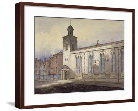 View of St Katherine Cree's Sundial, City of London, C1815-William Pearson-Framed Art Print
