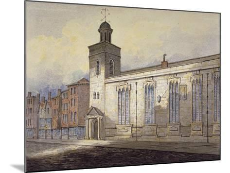 View of St Katherine Cree's Sundial, City of London, C1815-William Pearson-Mounted Giclee Print
