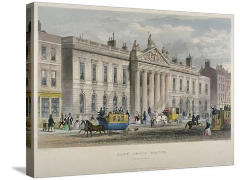 North View of East India House, Leadenhall Street, City of London, 1850-William Wallace-Stretched Canvas Print