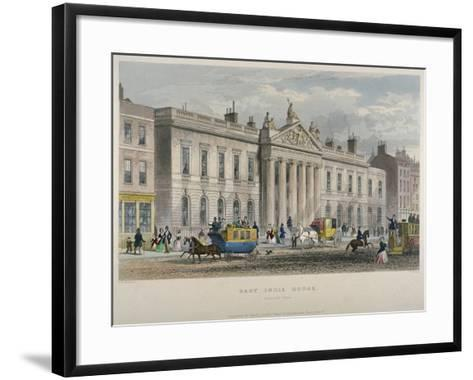 North View of East India House, Leadenhall Street, City of London, 1850-William Wallace-Framed Art Print