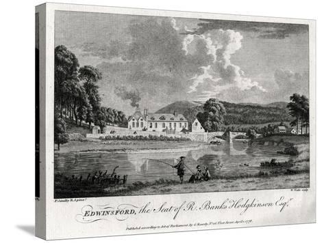 Edwinsford, the Seat of R Banks Hodgkinson Esq, Carmarthenshire, 1776-William Watts-Stretched Canvas Print