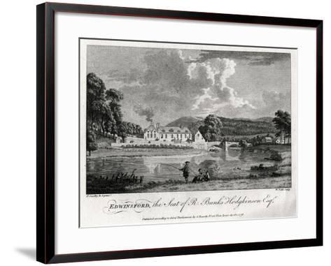 Edwinsford, the Seat of R Banks Hodgkinson Esq, Carmarthenshire, 1776-William Watts-Framed Art Print