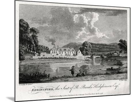 Edwinsford, the Seat of R Banks Hodgkinson Esq, Carmarthenshire, 1776-William Watts-Mounted Giclee Print
