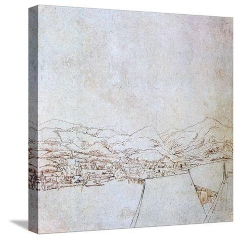 View of Urfahr, C1510-1553-Wolf Huber-Stretched Canvas Print