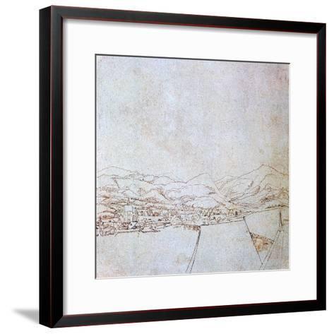 View of Urfahr, C1510-1553-Wolf Huber-Framed Art Print
