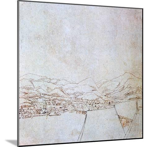 View of Urfahr, C1510-1553-Wolf Huber-Mounted Giclee Print