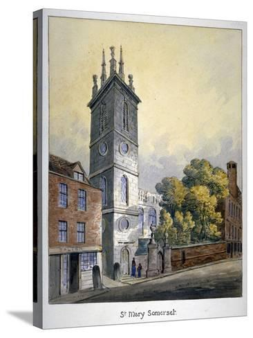 Church of St Mary Somerset, City of London, C1815-William Pearson-Stretched Canvas Print