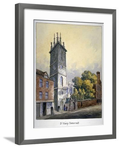 Church of St Mary Somerset, City of London, C1815-William Pearson-Framed Art Print