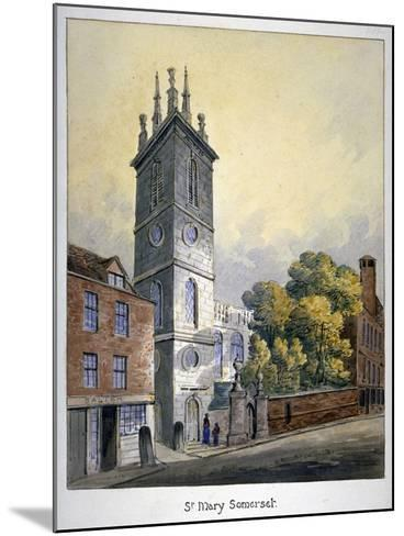 Church of St Mary Somerset, City of London, C1815-William Pearson-Mounted Giclee Print