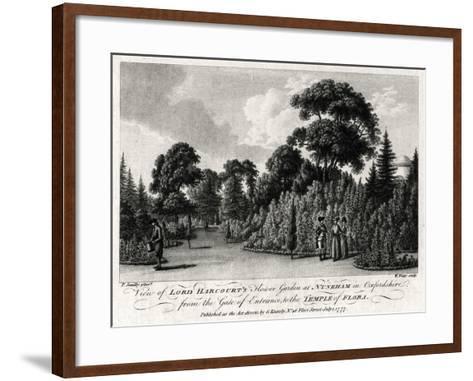 View of Lord Harcourt's Flower Garden at Nuneham in Oxfordshire, 1777-William Watts-Framed Art Print