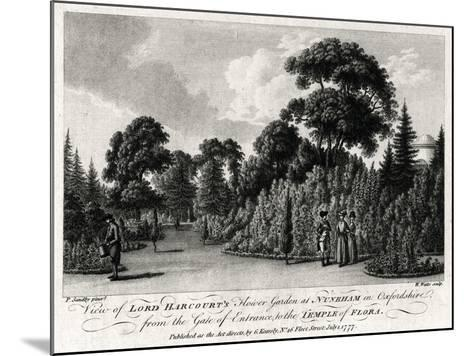 View of Lord Harcourt's Flower Garden at Nuneham in Oxfordshire, 1777-William Watts-Mounted Giclee Print