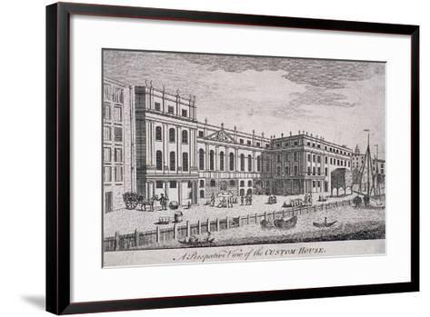 Custom House, London, 1800-William Watts-Framed Art Print