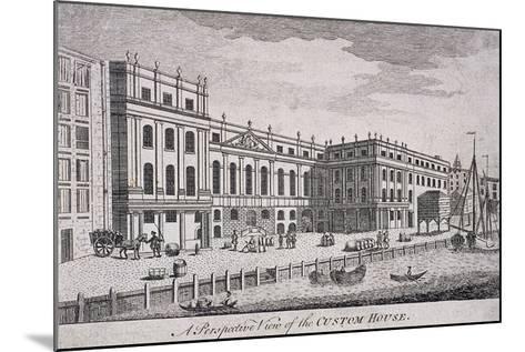 Custom House, London, 1800-William Watts-Mounted Giclee Print