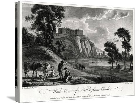 West View of Nottingham Castle, Nottinghamshire, 1776-William Watts-Stretched Canvas Print