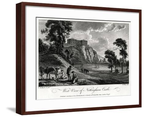 West View of Nottingham Castle, Nottinghamshire, 1776-William Watts-Framed Art Print