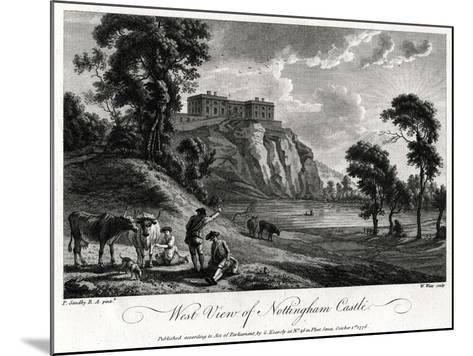 West View of Nottingham Castle, Nottinghamshire, 1776-William Watts-Mounted Giclee Print