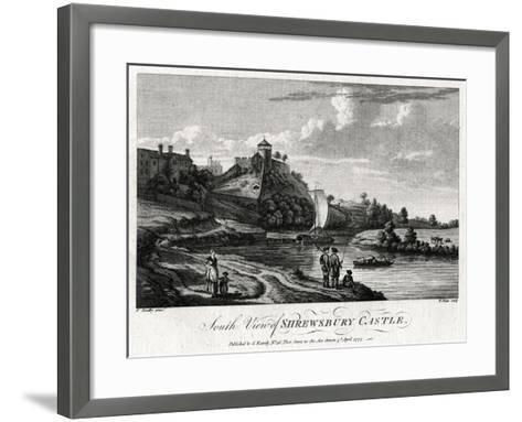 South View of Shrewsbury Castle, Shropshire, 1777-William Watts-Framed Art Print