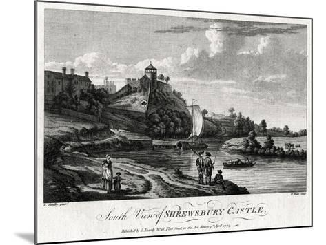 South View of Shrewsbury Castle, Shropshire, 1777-William Watts-Mounted Giclee Print