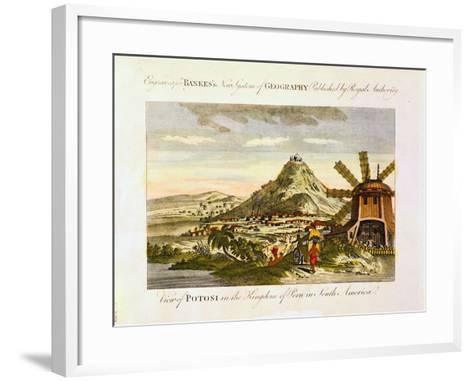 Mount Potosi, Bolivia, C1788--Framed Art Print
