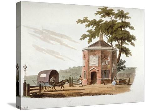Tyburn Turnpike, London, 1812-William Pickett-Stretched Canvas Print
