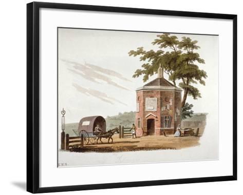 Tyburn Turnpike, London, 1812-William Pickett-Framed Art Print