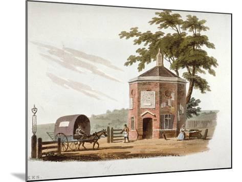 Tyburn Turnpike, London, 1812-William Pickett-Mounted Giclee Print