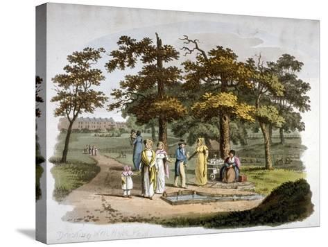 View of a Drinking Well, Hyde Park, Westminster, London, 1812-William Pickett-Stretched Canvas Print
