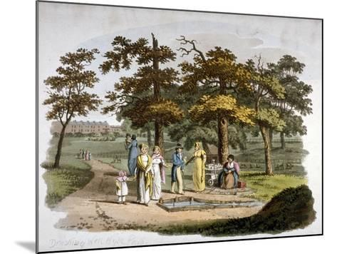 View of a Drinking Well, Hyde Park, Westminster, London, 1812-William Pickett-Mounted Giclee Print