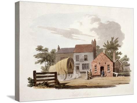 Kensington Turnpike, London, C1810-William Pickett-Stretched Canvas Print