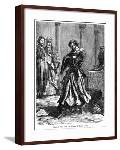 The Rage of King John (1167-121) after the Signing of the Magna Carta C1215--Framed Art Print