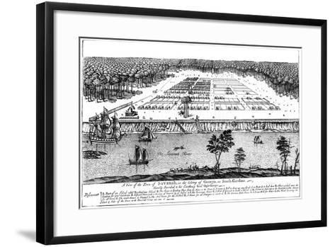 A View of the Town of Savanah, in the Colony of Georgia, South Carolina, 1741--Framed Art Print
