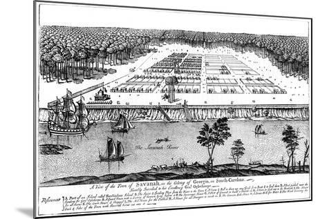 A View of the Town of Savanah, in the Colony of Georgia, South Carolina, 1741--Mounted Giclee Print