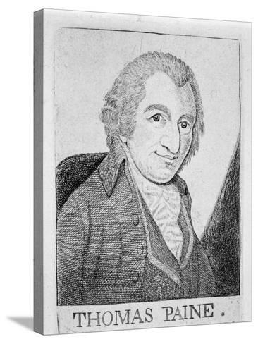 Thomas Paine, English-Born American Revolutionary, Writer and Philosopher, C1790-John Kay-Stretched Canvas Print