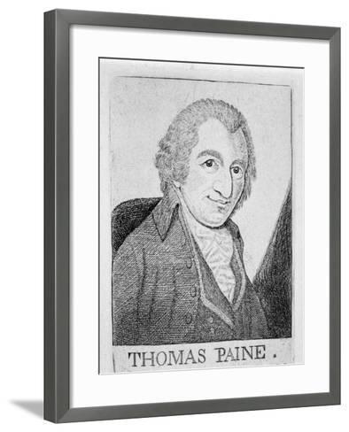 Thomas Paine, English-Born American Revolutionary, Writer and Philosopher, C1790-John Kay-Framed Art Print
