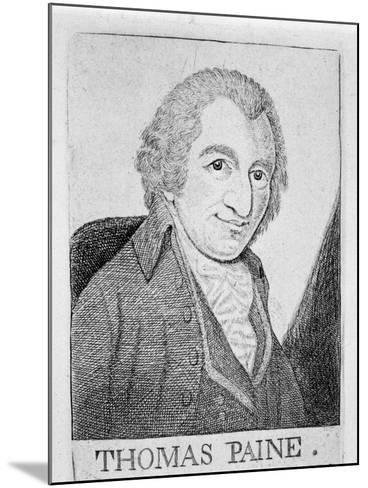 Thomas Paine, English-Born American Revolutionary, Writer and Philosopher, C1790-John Kay-Mounted Giclee Print