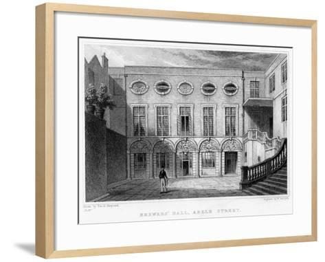 Brewers' Hall, Addle Street, City of London, 1831-William Radclyffe-Framed Art Print