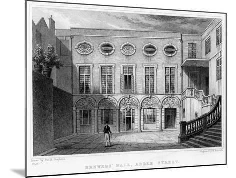 Brewers' Hall, Addle Street, City of London, 1831-William Radclyffe-Mounted Giclee Print