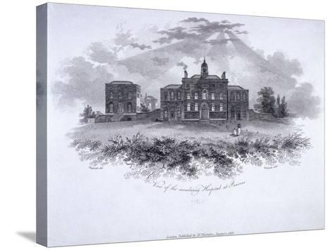 Smallpox Hospital, Battle Bridge (Now King's Cros), London, 1806-William Woolnoth-Stretched Canvas Print