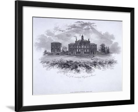 Smallpox Hospital, Battle Bridge (Now King's Cros), London, 1806-William Woolnoth-Framed Art Print