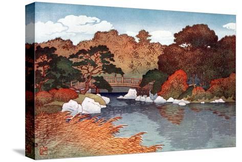 Autumn in Hundred Flower Garden at Muko-Jima, C1900-1950-Yoshida Hiroshi-Stretched Canvas Print