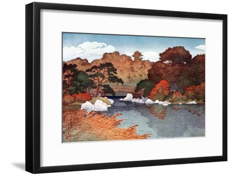 Autumn in Hundred Flower Garden at Muko-Jima, C1900-1950-Yoshida Hiroshi-Framed Art Print