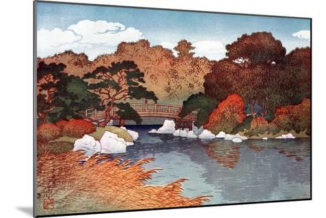 Autumn in Hundred Flower Garden at Muko-Jima, C1900-1950-Yoshida Hiroshi-Mounted Giclee Print