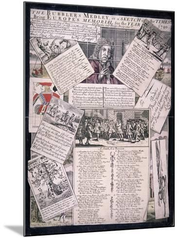 The Bubblers Medley, or a Sketch of the Times, 1720--Mounted Giclee Print