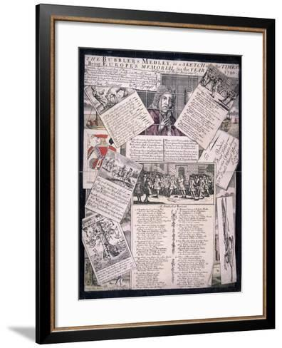 The Bubblers Medley, or a Sketch of the Times, 1720--Framed Art Print