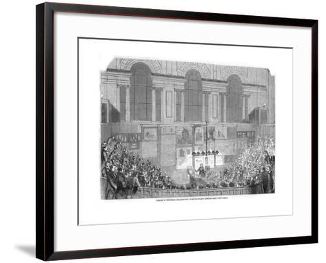 Lyon Playfair, Scottish Chemist and Politician, Lecturing, 1852--Framed Art Print